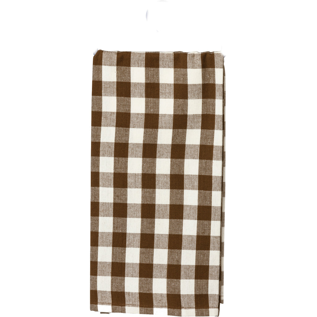 Brown Small   Buffalo Check Towel - BELLAVINTAGEHOME
