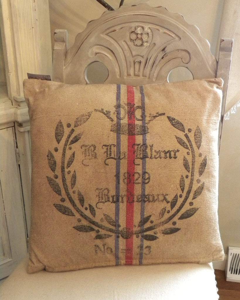 Recycled Canvas French Pillow