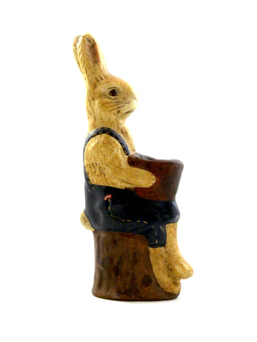 Rabbit on Tree Stump- Open Edition - BELLAVINTAGEHOME