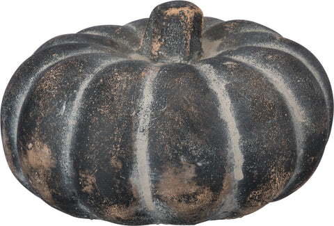 Tricorn Grey Cement Pumpkin Small - BELLAVINTAGEHOME