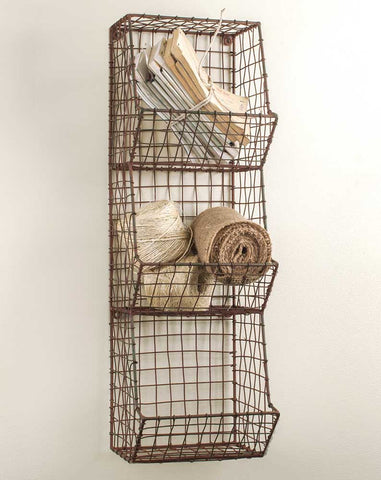 Vintage Style  Farmhouse General Store Wire Bin