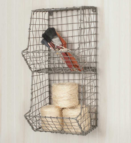 Vintage Style  Farmhouse  Mini General Store Wire Bin