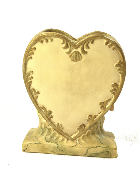 Heart Vase with Cherub- Open Edition
