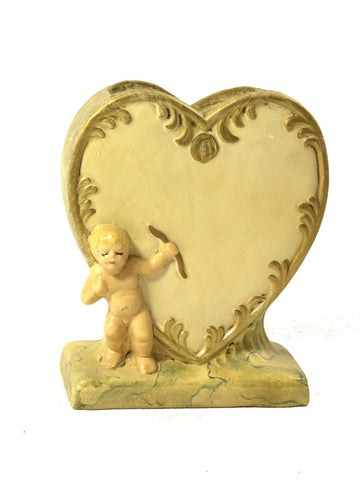 Heart Vase with Cherub- Open Edition - BELLAVINTAGEHOME