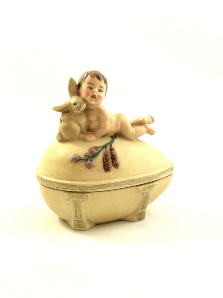 Cherub and Bunny Box - Open Edition - BELLAVINTAGEHOME