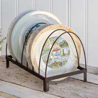 Vintage  Farmhouse Style Arched  Plate Rack - BELLAVINTAGEHOME