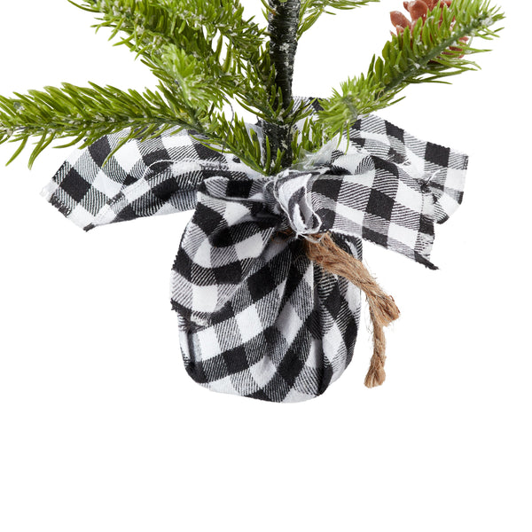 Tree-Black Plaid  Mini Pine Tree - BELLAVINTAGEHOME