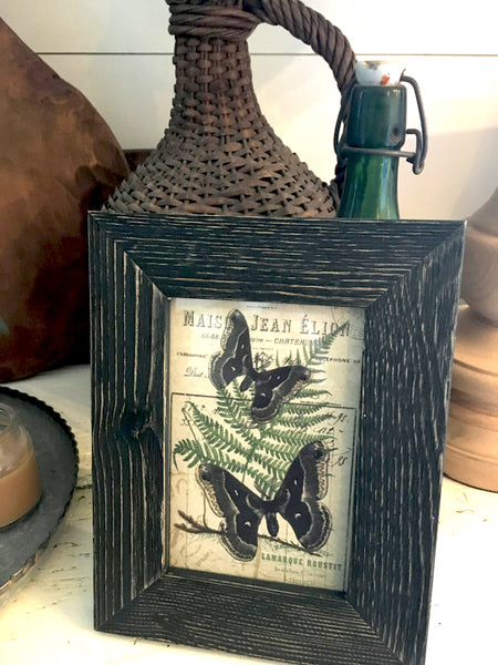 Black weathered wood Frame with Print ( More Options) - BELLAVINTAGEHOME
