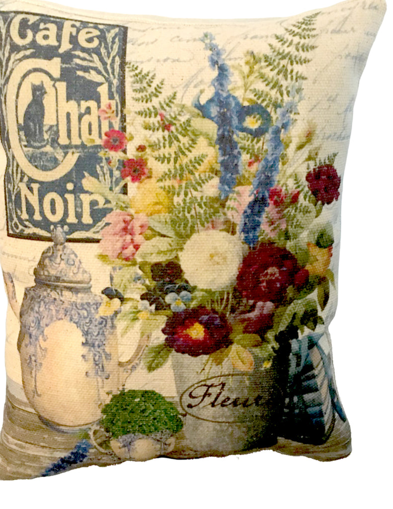 Blue Chintz  Accent Pillow - BELLAVINTAGEHOME