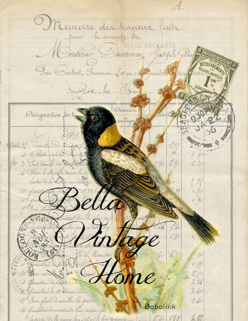 Bird Tea Towel Bobolink - BELLAVINTAGEHOME