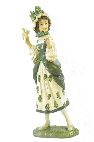 Vintage St Patrick's Girl holding Pipes