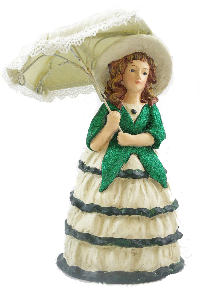 Vintage St Patrick's Lady with Umbrella