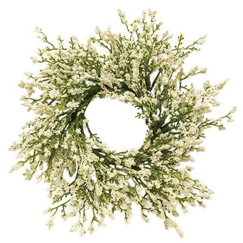 "a Astilbe Cream   Candle Ring 10"" - BELLAVINTAGEHOME"