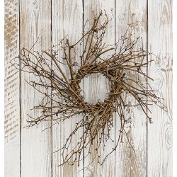 "Natural and Neutral Whispy Vine Wreath 16"" - BELLAVINTAGEHOME"