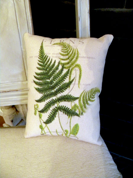Botanical Fern II  Print,  Pillow, Note Cards, Tea Towel