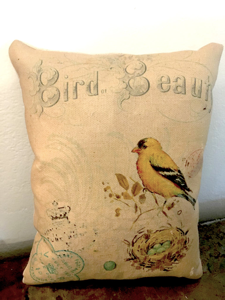 Finch Accent Pillow - BELLAVINTAGEHOME