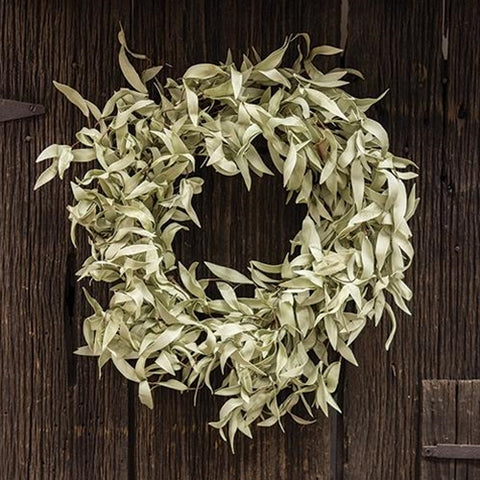 "a Flocked Herb Wreath 24"" - BELLAVINTAGEHOME"