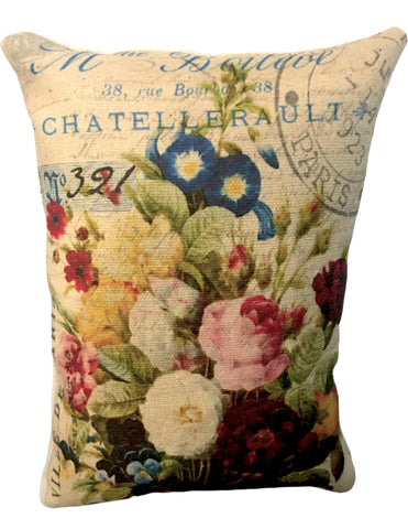 French Floral Accent Pillow - BELLAVINTAGEHOME