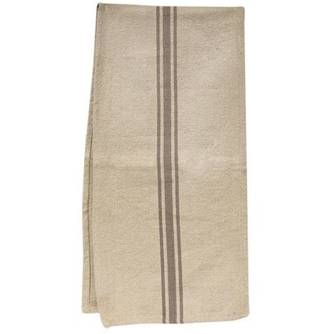 Table Runner Cream and Gray  Grain Sack - BELLAVINTAGEHOME