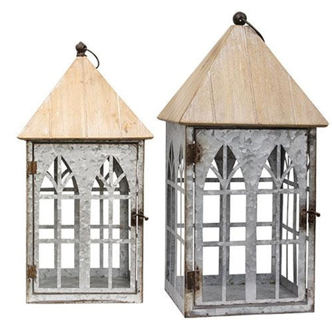 White Washed Serendipity Lanterns NEW!! - BELLAVINTAGEHOME