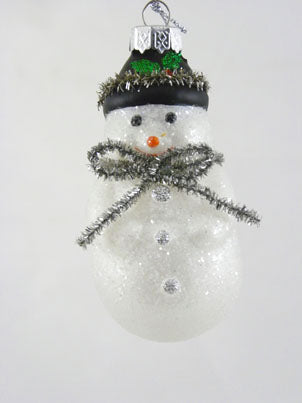 Mercury Glass Snowman Ornament