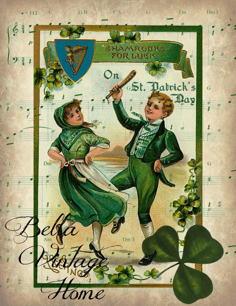 Irish Jig Print, Pillow, Note Cards, Tea Towel