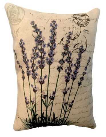 French Lavender Accent Pillow - BELLAVINTAGEHOME