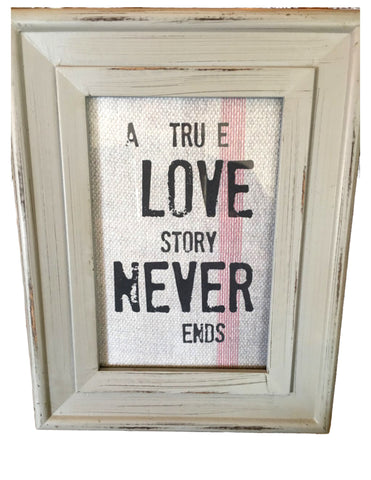 Grey  Frame with Print - BELLAVINTAGEHOME