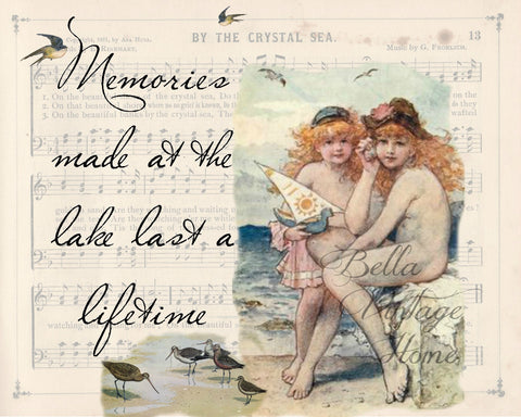Lake Memories I Print,  Pillow, Note Cards, Tea Towel