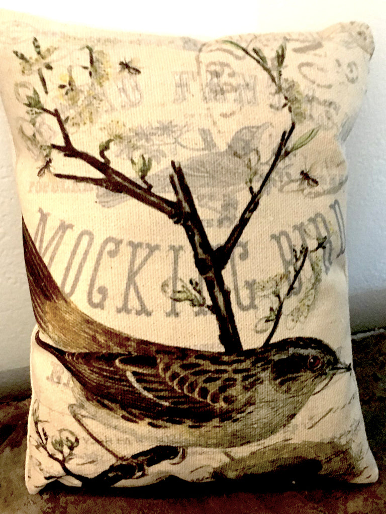 Mockingbird  Accent Pillow - BELLAVINTAGEHOME
