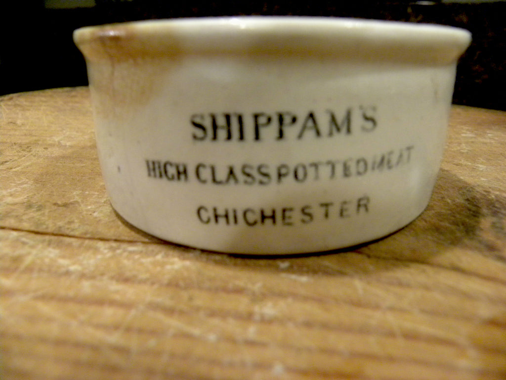 Shippman's High Class Potted Meat Jar - BELLAVINTAGEHOME