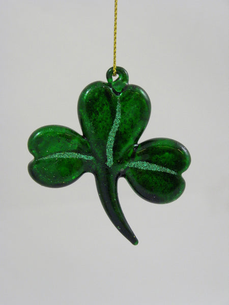 Mercury Glass St Patrick's Ornaments