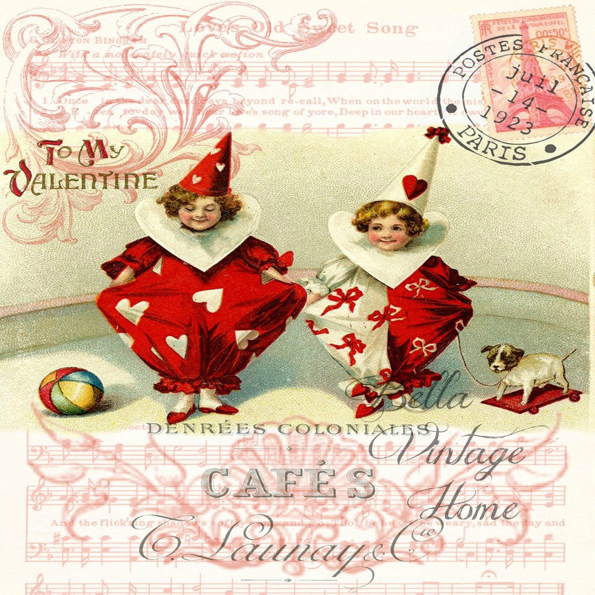 To My Valentine Print, Pillow,Note Cards, Tea Towel, Digital Download - BELLAVINTAGEHOME