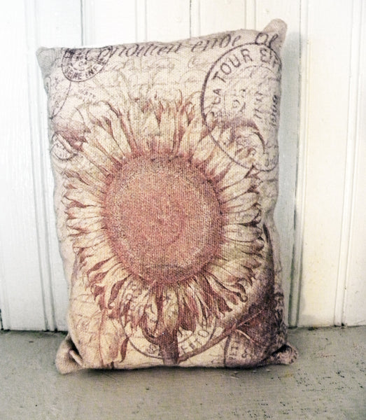 Sunflower Botanical Print,  Pillow, Note Cards
