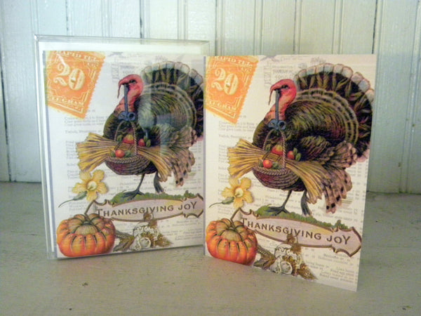 Thanksgiving Turkey Print,  Pillow, Note Cards