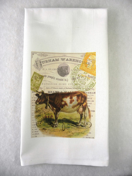 Brown Cow Print,  Pillow, Note Cards, Tea Towel