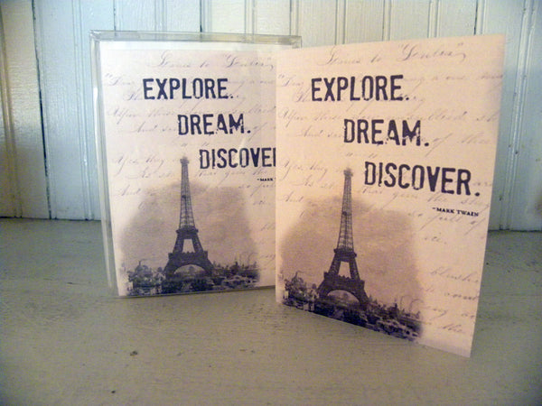 Explore Dream Discover Print,  Pillow, Note Cards