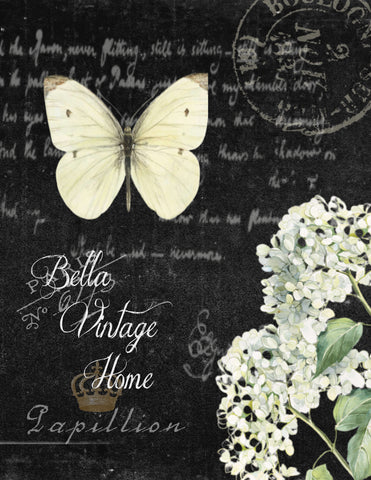White Butterfly II  Print, Pillow, Note Cards, Tea Towel, Digital Download - BELLAVINTAGEHOME