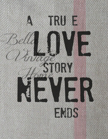 A True Love Story Print,  Pillow, Note Cards