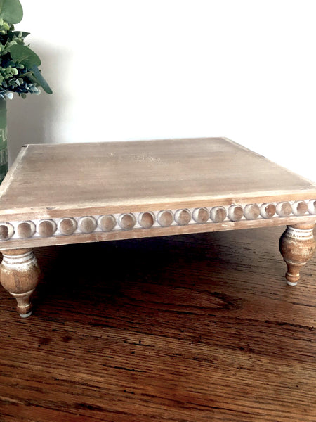 Wooden Beaded Tray/ Riser  NEW!! - BELLAVINTAGEHOME