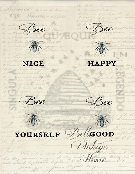 Bee Nice Print,  Pillow, Note Cards