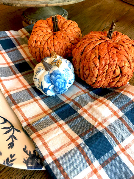 Braided Orange Pumpkin (Small) - BELLAVINTAGEHOME