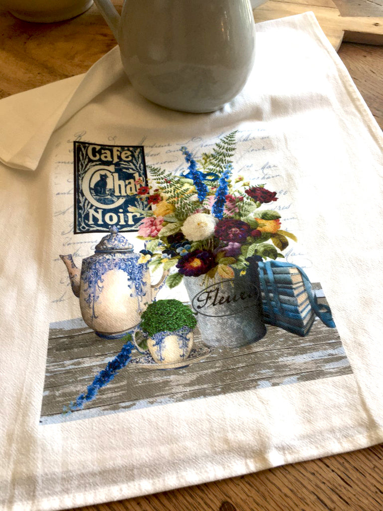 Blue Chintz  Tea Towel - BELLAVINTAGEHOME