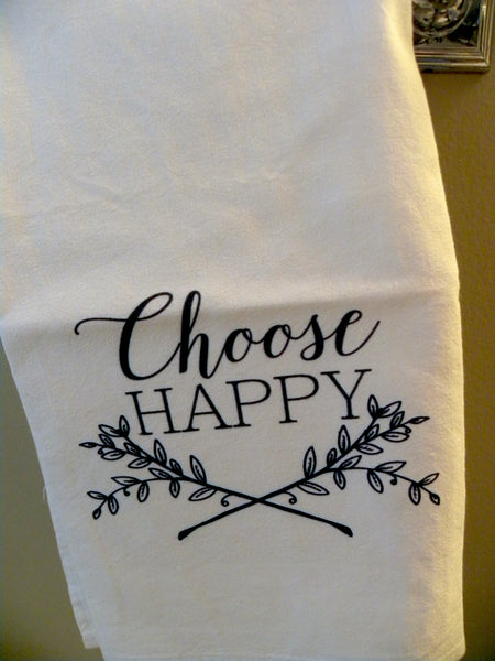 Choose Happy   Print,  Pillow, Note Cards, Tea Towels, Digital Download - BELLAVINTAGEHOME