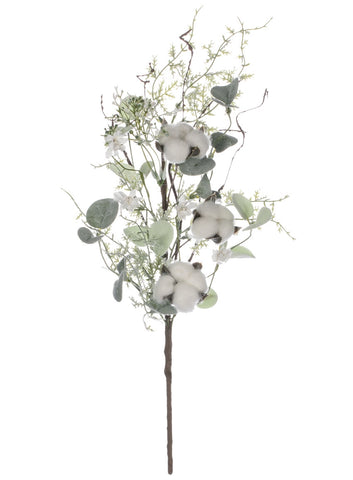 Set/3 Cotton and Eucalyptus Stem 19""