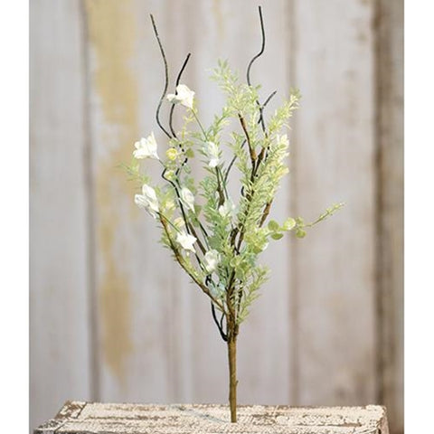 "a White Lobelia Pick 14""   NEW!! - BELLAVINTAGEHOME"