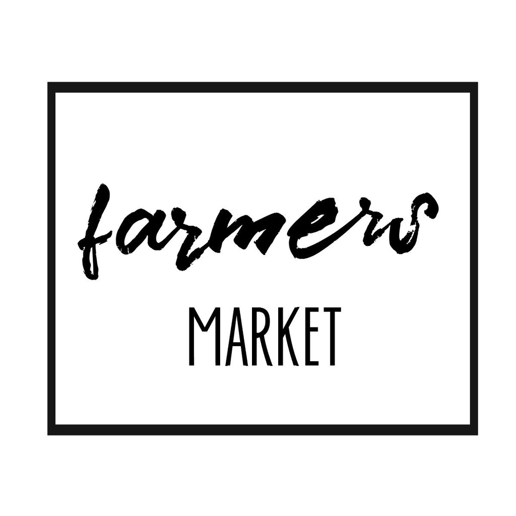 Farmer's Market Print,  Pillow, Note Cards