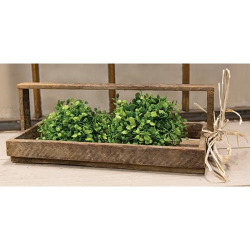 Wooden Lath Flower Tray Tote NEW!! - BELLAVINTAGEHOME