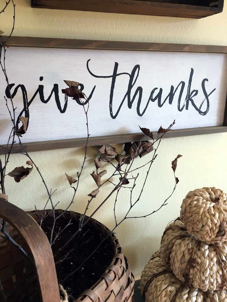 Vintage Inspired  Give ThanksSign - BELLAVINTAGEHOME