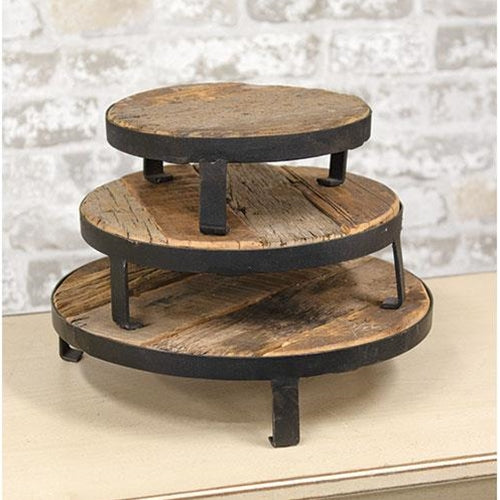 Vintage Style Metal and Wood Tray/Riser  ( 3 sizes)  NEW!! - BELLAVINTAGEHOME